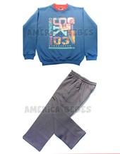 Conjunto nene buzo y pantalon frisa estampa Skate. Colores surtidos. Gruny.