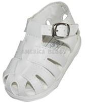 A521 Sandalia clasica. Blanco. Pepes bebes.