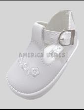 A720 Zapatito con hebilla Blanco. Pepes bebes.