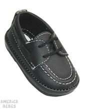 A770 Zapato leñador. Negro. Pepes bebes.