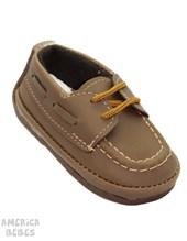A770 Zapato leñador. Chocolate. Pepes bebes.