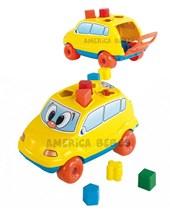 Baby Car amarillo con piezas. Calesita