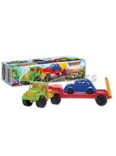 Camión transporta 1 auto. Duravit