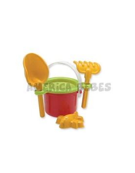 Balde chico con pala,colador y molde playa. Duravit