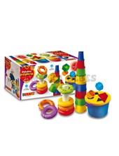3 en 1 (apilables+torre+balde formas). primera infancia. Duravit