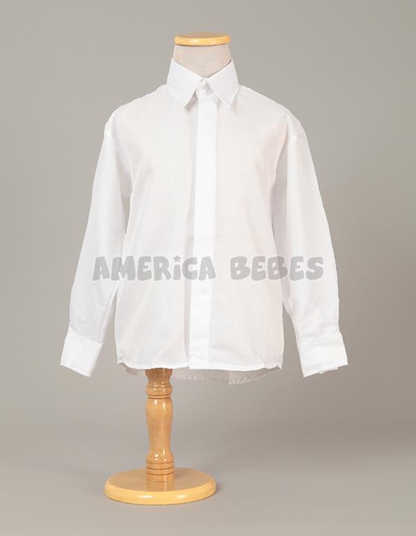 Camisa M L con fantasía (labrada) blanca. rutilante f7a650005ff