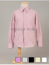 Camisa M/L de vestir con solapa tapa botones. Rutilante