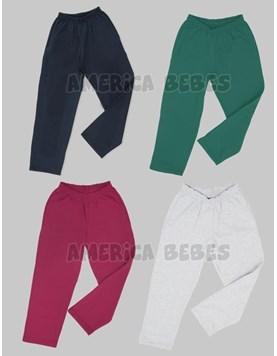 Pantalon de frisa VERDE con bolsillos. ely