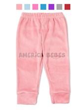 Pantalon bebes plush con puño. Colores surtidos. Baby Cheito.