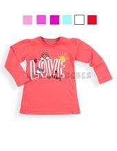 Remera nena color con estampa Love. Colores surtidos.  Baby Cheito.