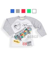 Remera M/Ramglan bebe SuperSkate. Colores surtidos. Baby Cheito.