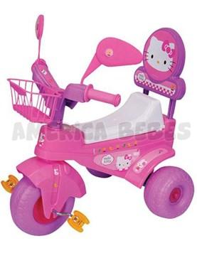 Triciclo KITTY. Canasto al frente. Respaldo de seguridad. Biemme