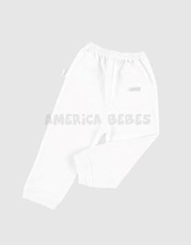 Pantalon con puño blanco. Liso Gamise