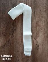 Corbata TEJIDA juvenil Blanca