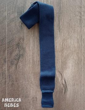 Corbata TEJIDA juvenil Azul