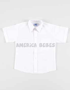 Camisa M/C blanca colegial. rutilante