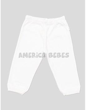 Pantalon c/puño blanco.Liso Naranjo.