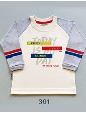 Remera m/larga bebe enjoy. Colores surtidos. Gruny