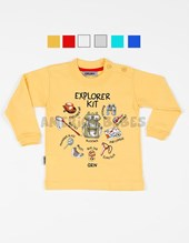 REMERA ML BEBE. ESTAMPA EXPLORER KID. COLORES SURTIDOS. GRUNY.