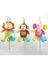 """PELUCHE CUNERO 11"""" ANIMALES. COLORES SURTIDOS. WOODY TOYS."""