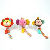 PORTA CHUPETE 5.5PUL 3 ANIMALES. WOODY TOYS.