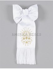 Brazales bordado SOL fantasía. Oro y plata. Comunión.