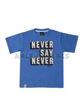 Remera Jr varon c/estampa Never say never. Colores surtidos. Gepetto.