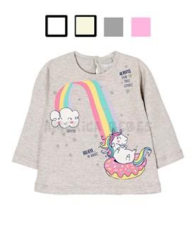 f95ece0aa Remera bb nena M L c estampa unicornio.Colores surtidos. Gepetto.