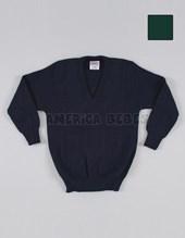 Pullover escote V. COLORES: Verde-Azul-Gris-Rojo-Bordo