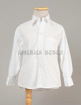 Camisa M/L blanca colegial