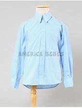 Camisa M/L celeste colegial. rutilante