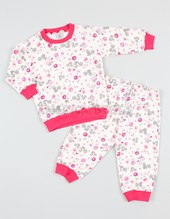 Pijama interlock estampado unisex. Colores surtidos. Narocca.