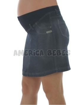 Pollera Mini de jean con faja. Que sera?