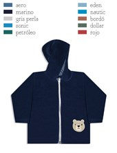 Campera Plush de Bebe Con Capucha Dreams