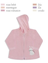 Campera Plush Beba con Capucha Dreams.