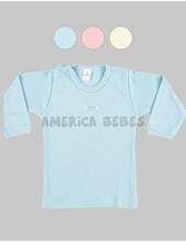 REMERA M/L bebes LINEA SUAVE. Colores surtidos. Gamise.