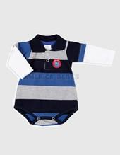 Body chomba combinado. Jersey gamuzado rayado nene. Colores surtidos. Premiun only babys.