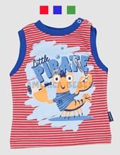 Remera s/mangas c/puños estampa Pirate jersey rayado. Colores surtidos. Premium.