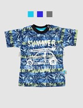 Remera m/c estampada Summer. Colores surtidos. Premium.