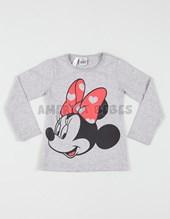 Remera nena M/L estampada. Minnie. Disney Licencia.