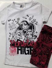 CONJ.REMERA + CALZA MONSTER HIGH ROLFY