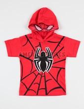 Remera nene M/C y capucha spiderman. Disney Licencia.