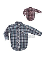 Body camisa escosesa con logo bordado. Colores surtidos. Pilim