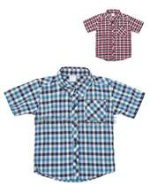 Camisa bebe  M/C escoces. Colores surtidos. Pilim.