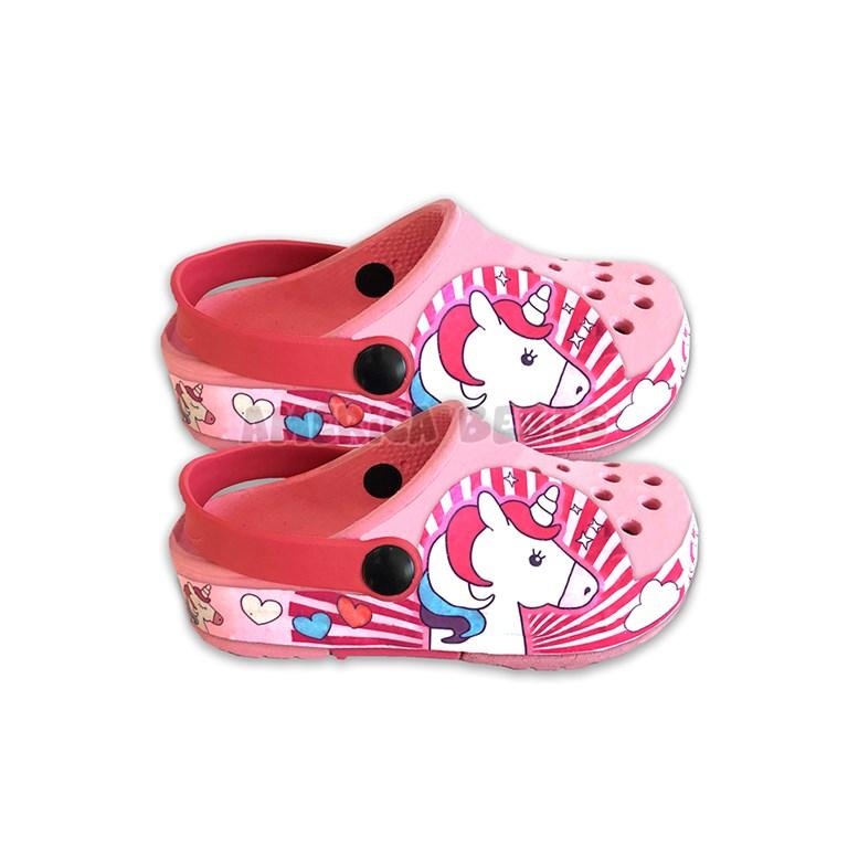 nueva estilos 79db5 98974 Crocs ultra liviano niña banda con LUZ. Estampa Unicornio ...