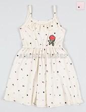 Vestido nena con estampado flores y estrellas. Sol de chicos.