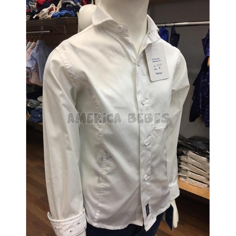 486e200b8 Camisa M L nene lisa blanca con recortes. Popeye Kids. - America Bebes