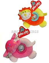 4 animales c/cupula sonajera. Phi Phi Toys.
