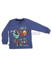 Remera bebe melange de colores estampa We´LL Go. Compacto.