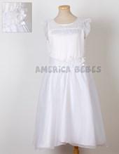 Vestido comunion corte cintura en v. Children Dior.